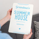 Personalised Summer House Metal Sign
