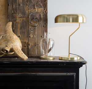 Brass Slim Domed Desk Light - table lamps