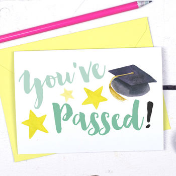 Congratulations You've Passed Exams Card