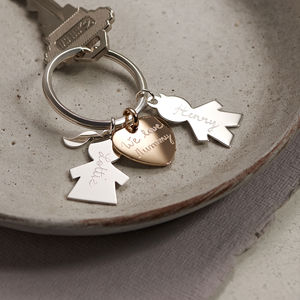 Personalised Person Keyring - gifts for her