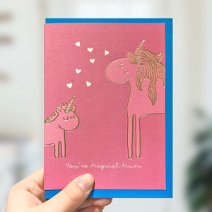 Gold Foil Unicorn Mother's Day Card