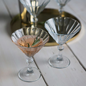 Set Of Two Deco Cocktail Glasses - engagement gifts