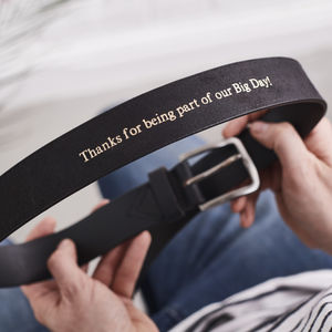 Best Man Personalised Leather Belt