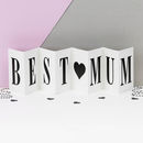 Birthday Card For Mum Personalised Concertina Card