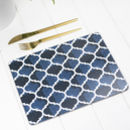 Isabel Placemat, Blue Geometric Tablemat