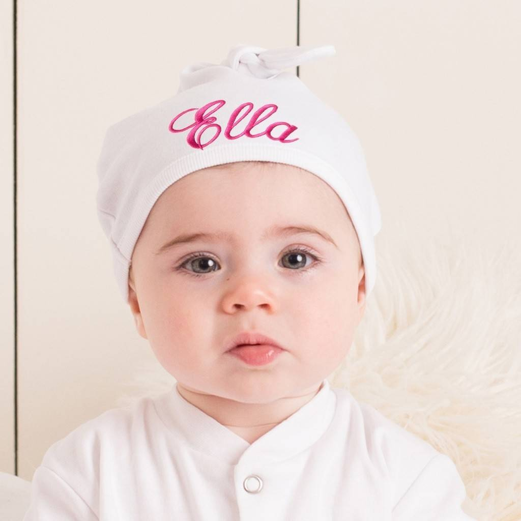 personalised embroidered baby hat by able labels ... bb34ee3789b