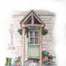 Personalised Front Door Illustration