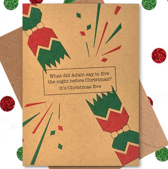 Funny Christmas Card: Christmas Eve