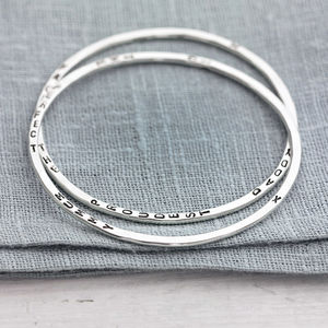 Personalised Word Bangle - gifts for mothers