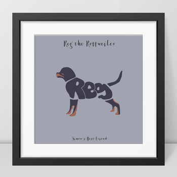 Personalised Rottweiler Picture