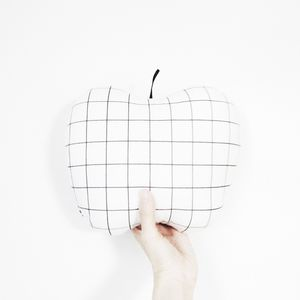 Grid Apple Shaped Cushion - patterned cushions