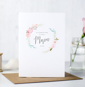 'Like A Mum To Me' Mother's Day Card - mother's day cards & wrap