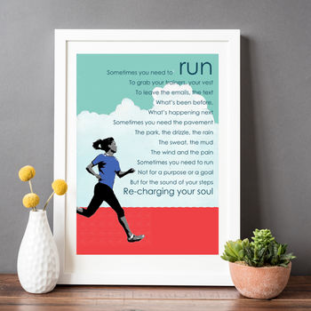 Running Poem Gift For A Runner