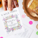 10 'Wild Years' Wildflower Seed Packet Party Favours