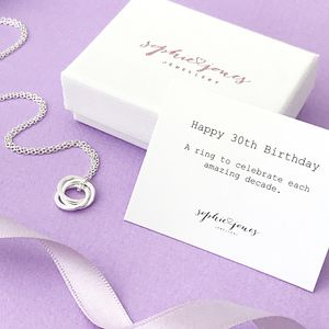 30th Birthday Silver Necklace - necklaces & pendants
