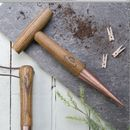 Copper And Wood Garden Dibber With Guide