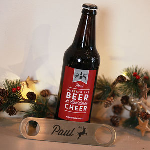 Christmas Ale With Personalised Bottle Opener