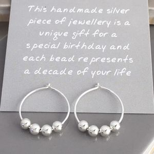 40th Birthday Silver Bead Earrings