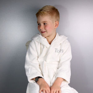 Personalised Childrens Hooded Dressing Gown