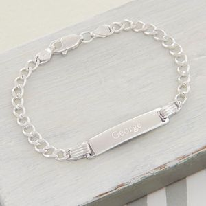 Sterling Silver Boys ID Bracelet - children's jewellery