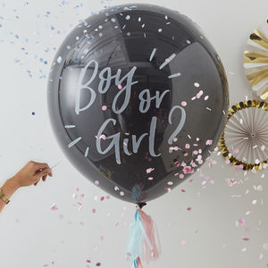 Baby Shower Gender Reveal Confetti Balloon Kit - dads to be