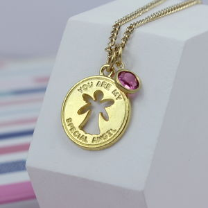 Special Angel Birthstone Necklace - necklaces & pendants