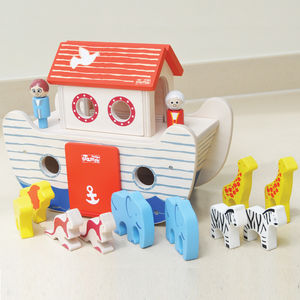 Wooden Noah's Ark Toy - traditional toys & games