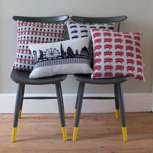 Knitted Lambswool London Cushion - living room