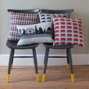 Knitted Lambswool London Cushion