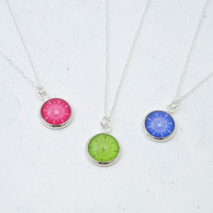 Birthstone Colour Compass Necklace