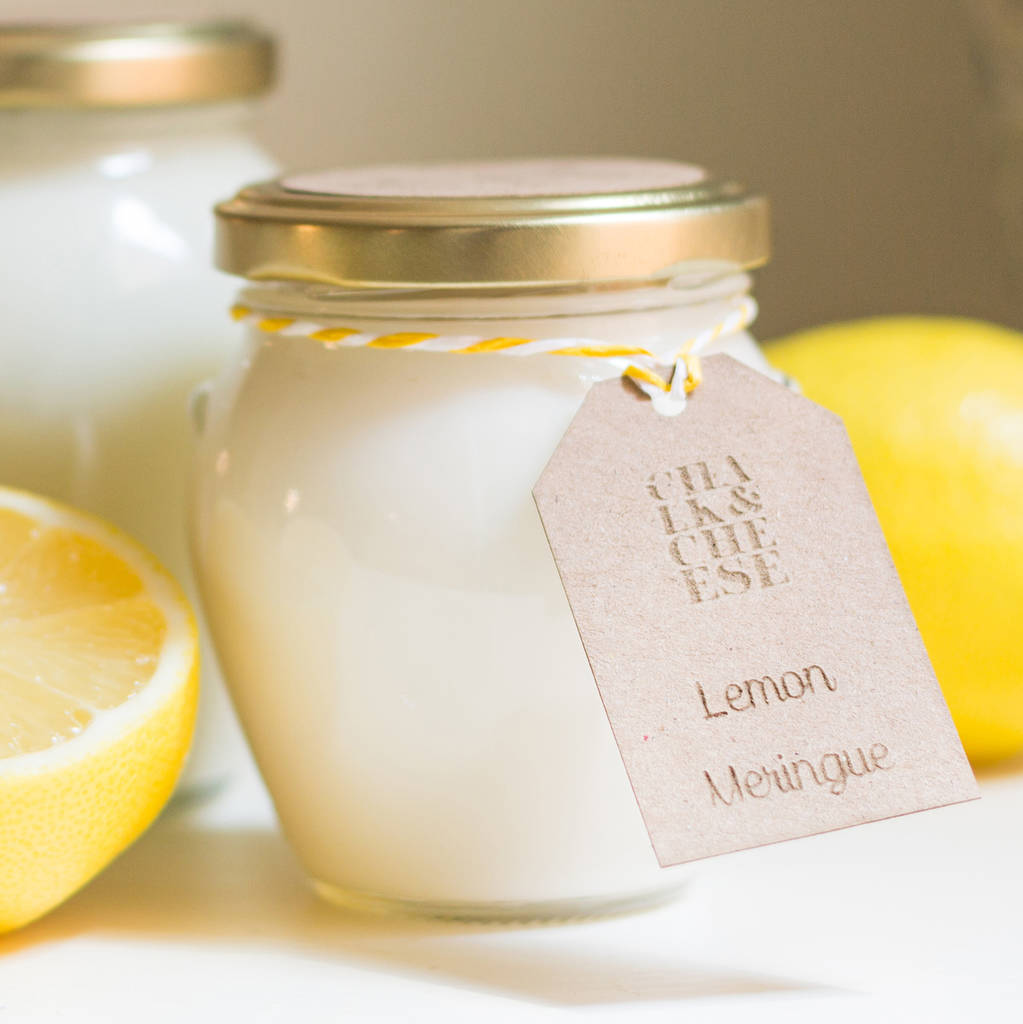 Lemon Meringue Handmade Soy Wax Scented Jar Candle
