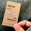 Move Any Mountain Silver Earrings