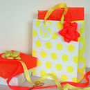 Personalised Neon Gift Bag And Wrap Set