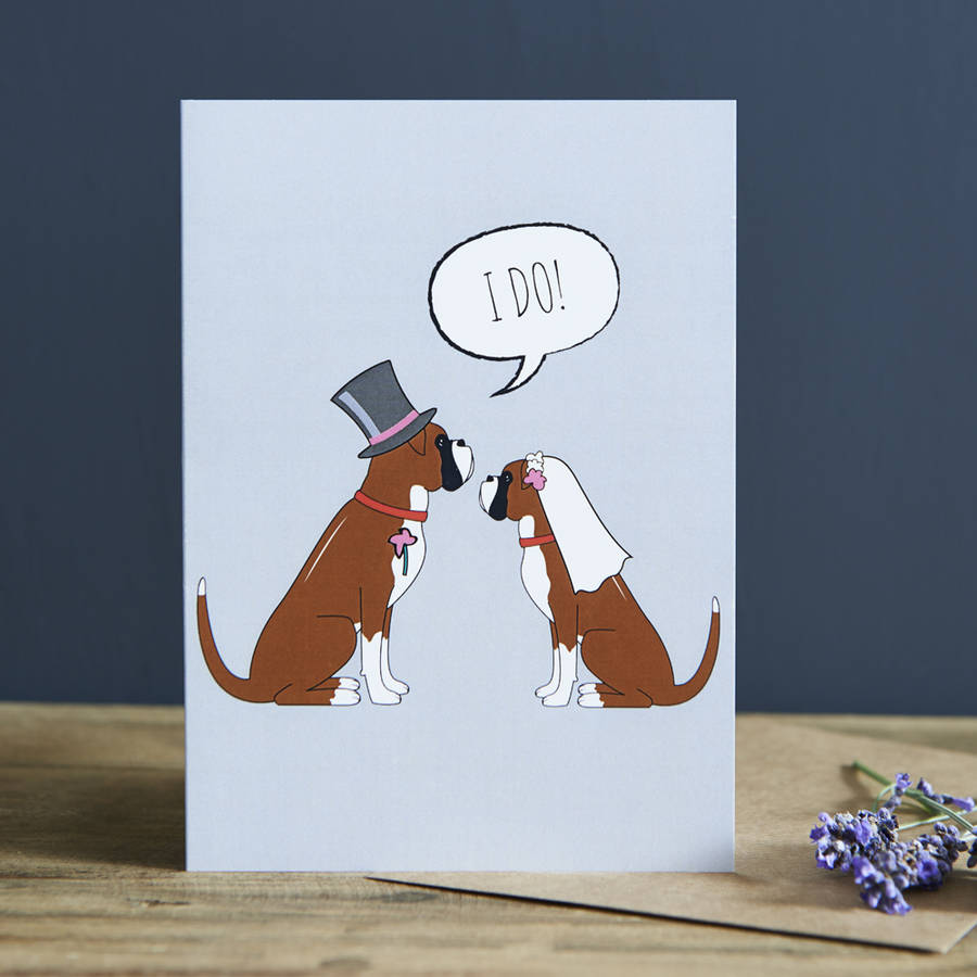 Boxer Wedding / Engagement Card