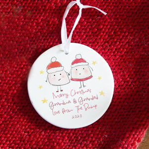 To Grandparents From The Bump Xmas Tree Decoration C