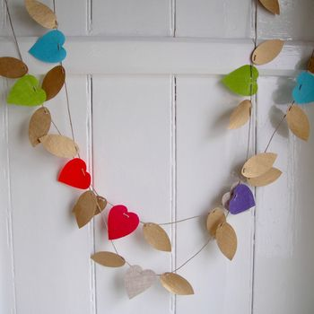Love Hearts On Wings Decorative Garland
