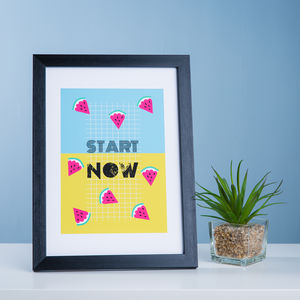 Start Now, Motivational Healthy Eating Print - children's pictures & paintings