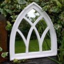 Melrose Distressed Arch Garden Mirror