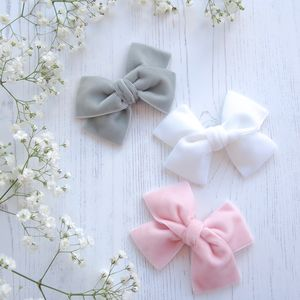Flower Girl Hair Bow In Velvet