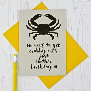 Crabby Cancerian Birthday Card