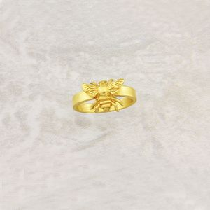 Bee Ring In Solid Gold