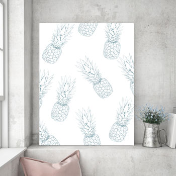 Tropical Showers Blue, Canvas Art
