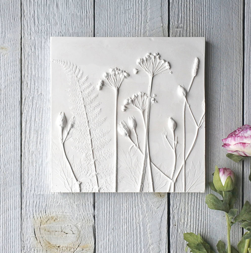 Summer Mix No. Two Plaster Cast Tile