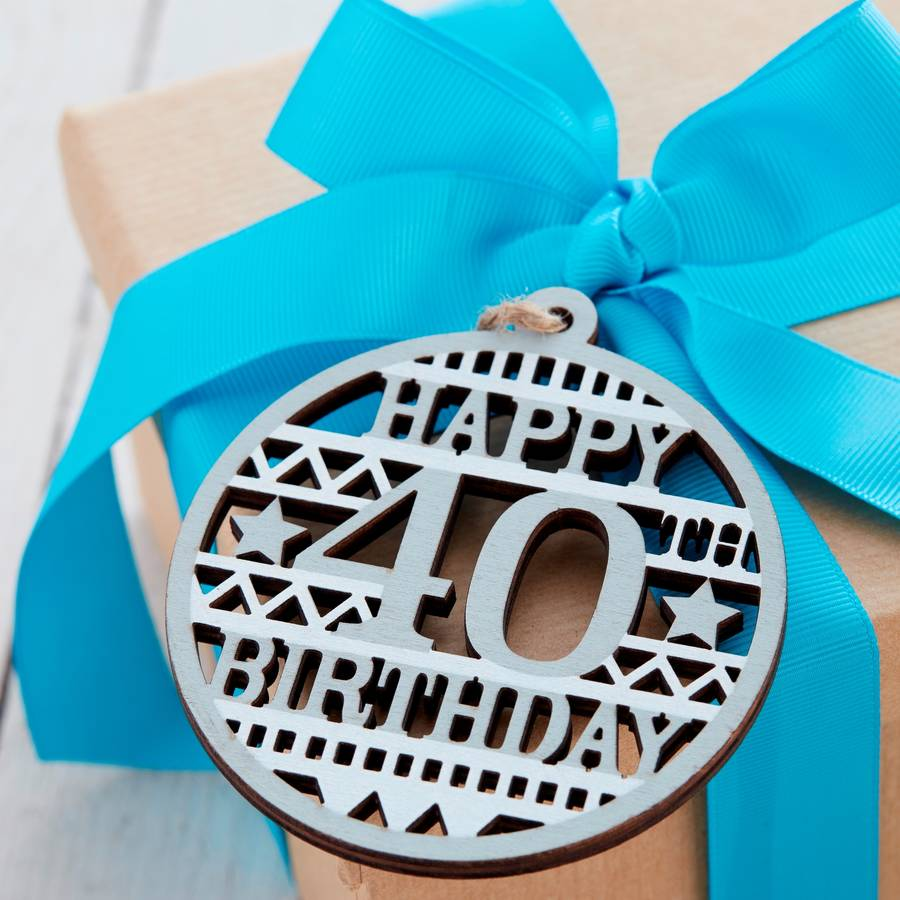 40th Birthday Gift Tag