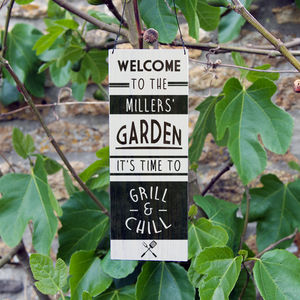 Personalised Bbq Sign - al fresco dining