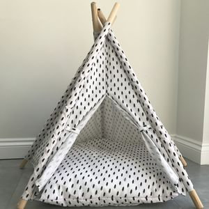 The Balmoral Black And White Pet Teepee Bed - beds & sleeping