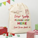 Personalised Dear Santa Christmas Sack