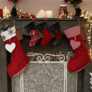 Personalised Set Of Two Country Christmas Stockings - stockings & sacks