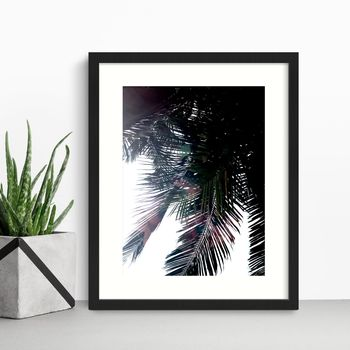 'Paradise Found' Painted Palm Leaves Print