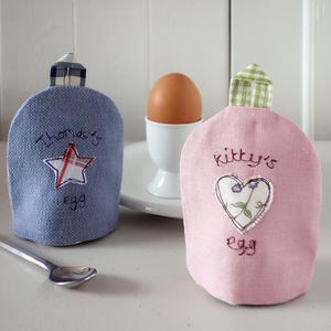 Personalised Embroidered Fabric Egg Cosy - easter home